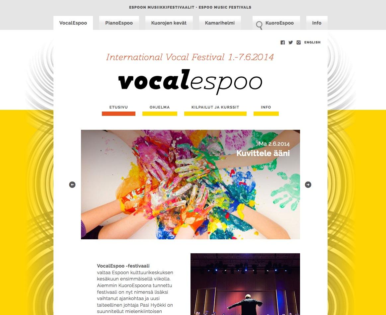 VocalEspoo-sivusto