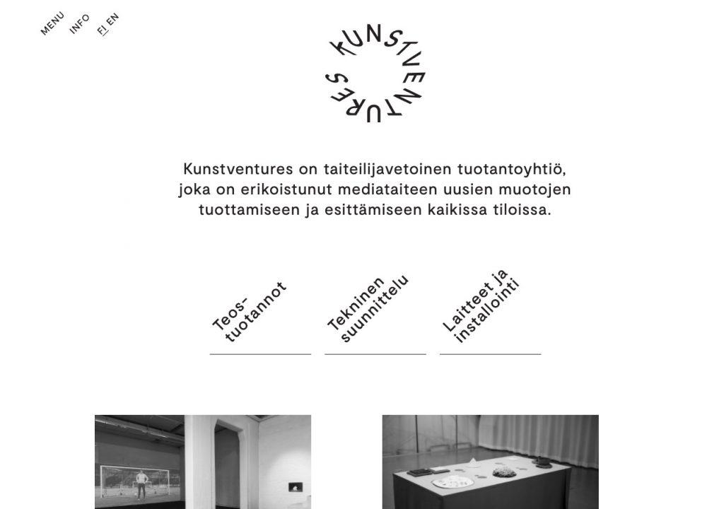 Kunstventures-verkkosivut